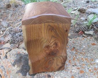 Natural Wood, Sculpted Urn or Memorial Keepsake