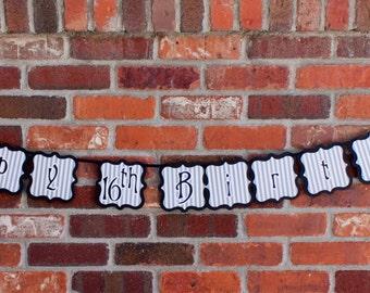 Nightmare Before Christmas Banner, Jack Skellington Banner, Nightmare Before Christmas Party Decor