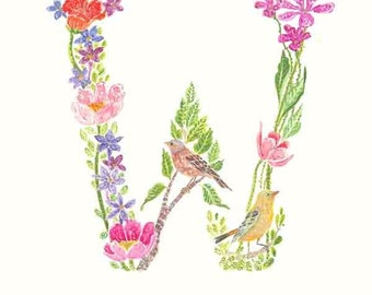 Alphabet Art, Initial Print, choose your letter, 20% Refund on 4 or more A B C prints