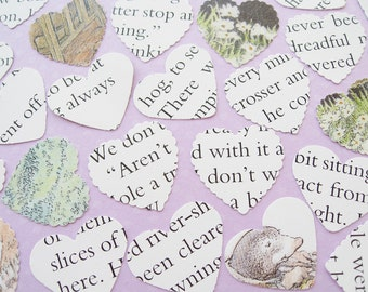 100 The Wind In The Willows Heart Confetti - Baby Shower, Birthday Party, Christening - Table Decor