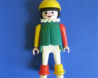 Playmobil Clown jester figure red yellow green 1974 70s 1970s toys