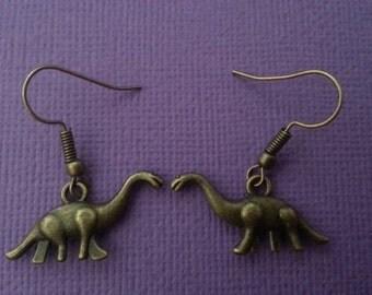 Bronze Dinosaur Earrings
