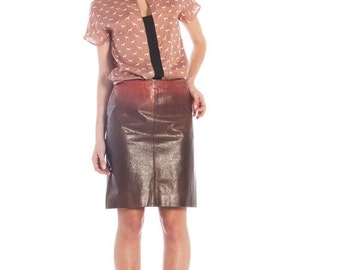WINTER SALES Leather ombré skirt by Cavalli // 90s // S size