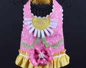 SPRING:  Pink Daisies Dog Harness