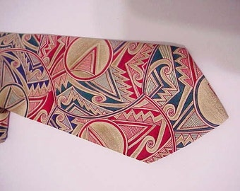 NeckTie-Artsy Silk Necktie For HIm