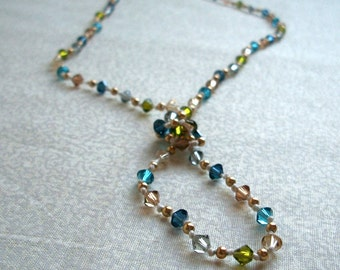 Hand Knotted Necklace - Lillian in Vintage Pear, Ready to Ship