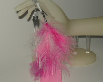 Feather Hair Clip / Feather Hair Accessories / Long/Short/Pink/Fun Colors