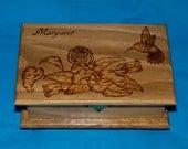 Decorative Rustic Wood Jewelry Box Wood Burned Box Wedding Tree Love Birds Custom Jewellery Box Personalized Hummingbird Bridal Shower Gift