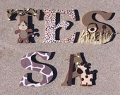 Safari Wooden Letters, An...