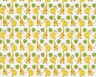 Giraffes - 1 yard Cut - Timeless Treasures - Cotton Fabric - Quilting Fabric - Yellow Fabric