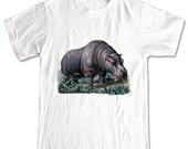 Hungry Hippo Wild Animals T-shirt Women Men Children Small, Medium, Large, XL
