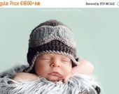 SALE Baby Pilot hat-Crochet baby aviator hat/Newborn to Toddler Crocheted Aviator Hat/Photo prop Earflap hat in many sizes and col