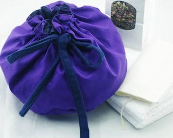 Purple Cotton Lotus Birth Kits - Lined