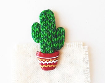 Cactus Brooch, Pin, Cacti Green Brooch, Little Cactus Jewelry, for cactus lover