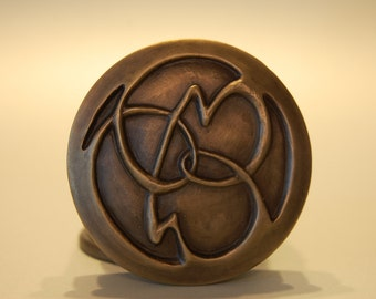 Artistic bronze keepsake birth wedding anniversary commemorative D021