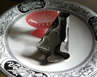 Primitive Rare AMISH Community NY 1800s Folk Very Fine Handled Duck Flat Back Cookie Cutter, All Handmade Soldered