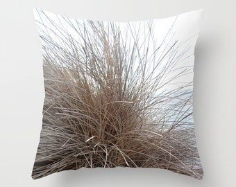 Seagrass, pillow cover, dried grass, nature photography, delicate, beach, rustic, linear, ecru, natural, minimalist, zen, Lesvos, Greece