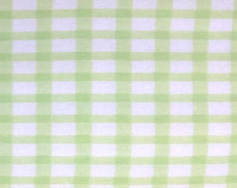 Flannel by the Yard – Lt Green Gingham 100% Cotton Flannel