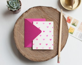 Mini Heart Cards - Set of 5 cards