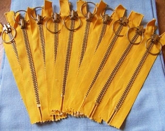 REDUCED Lot of 10 Matching Heavy Duty Talon Metal Zippers 7.5 Inches