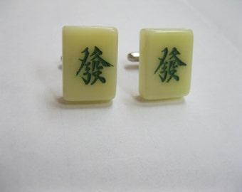 Mini Mahjong tile Cufflinks
