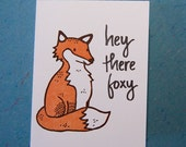 letterpress printed card with fox