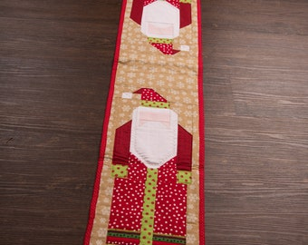 Quilted Santa Table Runner
