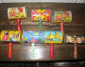 Reserved for Rodrigo! Vintage Noisemakers - 7 Vintage Noisemaker Rattlers - Seven Noisemaker Rattlers - Vintage 1930's-1950's Noisemakers