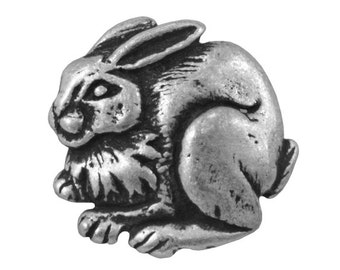 Jackrabbit 7/8 inch (22 mm) Pewter Metal Button Antique Silver Color