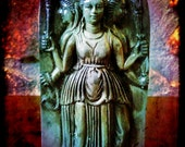 Hecate statue wall plaque