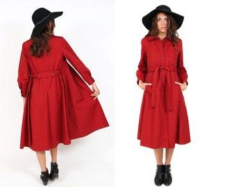Vintage Nordstrom Jacket 1960's 60's sixties  70's seventies mod rust red orange coat