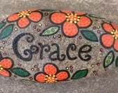 Happy Rock - Grace - Hand-Painted River Rock