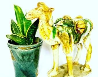 Antique Ceramic Camel Decorative Figurine
