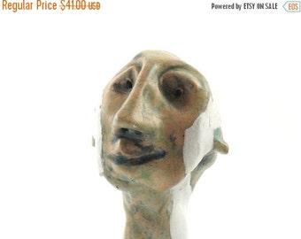 Desk accessorie sculpture, art sculpture, mini sculpture, head sculpture, ceramic sculpture, crazy art, mmodern ceramic, ceramic art