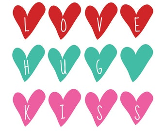 Love, Hug, Kiss, Digital Format