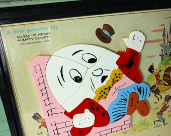 Vintage Magnetic Humpty Dumpty Puzzle 1962 A Child Guidance Toy