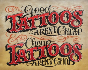 Tattoo Shop Policy  Print  ,art TP3