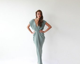 RESERVED Lindsey - Formal maxi bridesmaids emerald green color