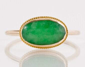Antique Ring - Antique 14/18 Karat Jadeite Ring