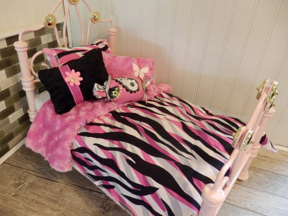 Pink black and white zebra comforter with reversible pink - Black white pink comforter ...