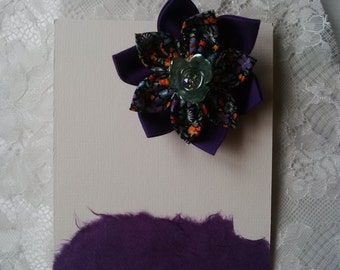 Fabric flower hair accessory at funkycrafts