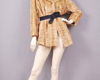 Reserved 50% off Superb Vintage Butterscotch Blonde Mink Bridal Fur Jacket