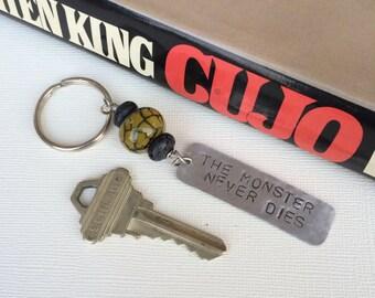 SALE, Stephen King,  Cujo,  Keychain, Key Chain, Key Ring, Horror, The Monster Never Dies