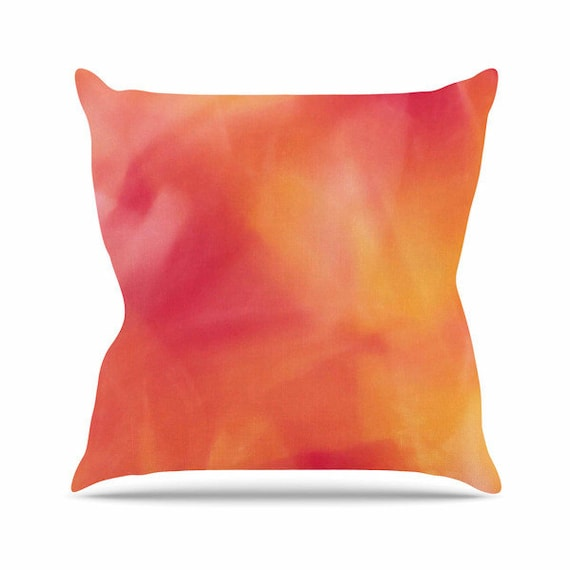 Peach Decorative Throw Pillows : Peach Throw Pillow Pink Throw Pillow Yellow Throw Pillow