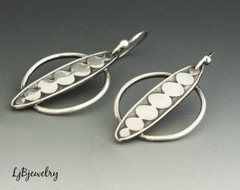 Silver Dangle Earrings, Drop Earrings, Metalsmith Earrings, Handmade Earrings, Artisan Jewelry