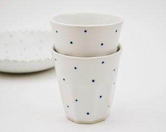 Dotty Ceramic Espresso Cup - Ceramic Tumbler - Ceramic Cup