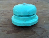 Industrial Chic Seafoam Green Vintage Bell