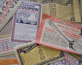 HUGE SALE Mom's Assorted Retro Vintage and Antique Coupons