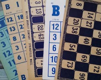 Rare Vintage Blue Bingo and Lotto Card Collection No.1   LAST ONE