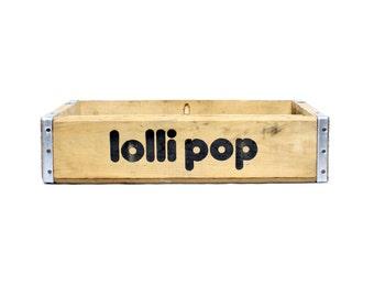 Vintage Lollipop Soda Crates